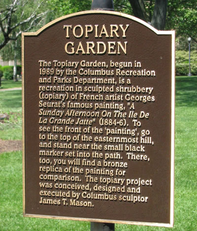 About the Topiary Garden ...