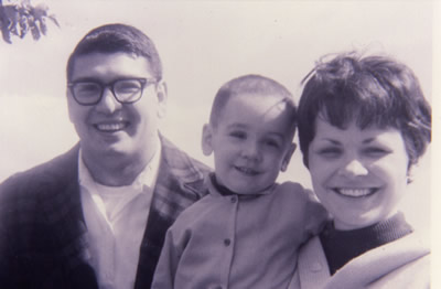 Dad and Mom with David in the late 1960's