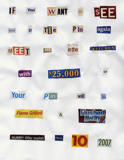 Tie Tack Ransom Note