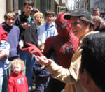 Spiderman 3 Movie Films a Scene in Cleveland